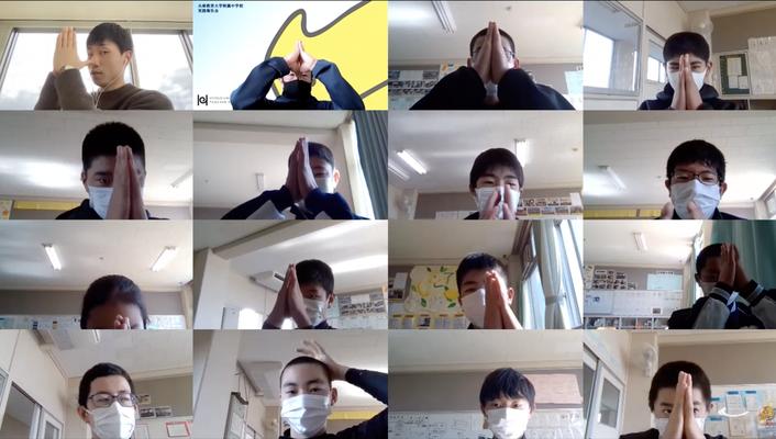兵庫教育大学附属中学野球部様でのオンライン講演の様子