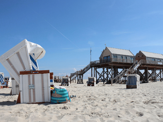 Am Strand von St. Peter Ording im Strandkorb Zeit verbringen - Erholung pur Seminare mit Wege zum Sein