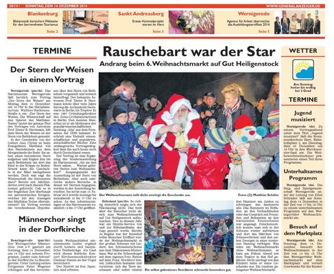 Generalanzeiger 24.12.2014