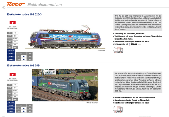 Roco 2x Vectron von SBB Cargo International