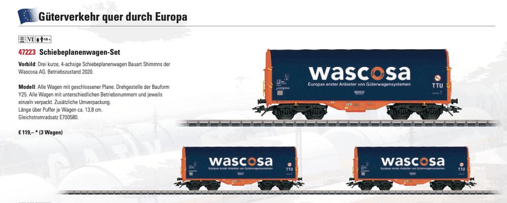 Solche Wagen-Sets gefallen mir um Güterzüge zu komplettieren