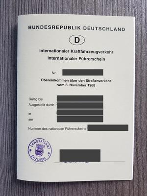 Internationaler Führerschein - Vorderseite