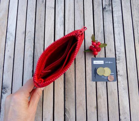 Kleine Geldbörse zur Taschenkollektion Python FlameRed