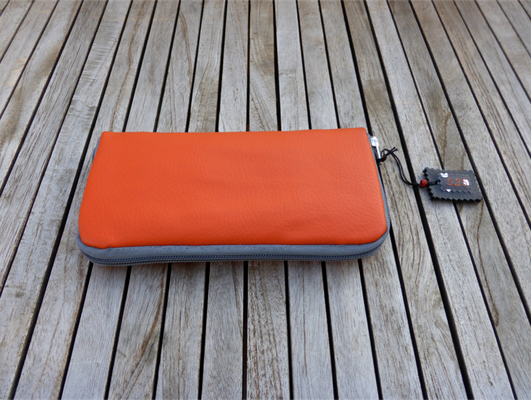 Portemonnaie orange-grau Nr 525