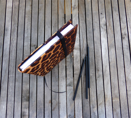 Notizbuch A5 für Taschenkollektion Leopard