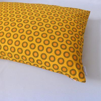 Afrikanische Kreisel in gelb 40x60 cm Detailansicht