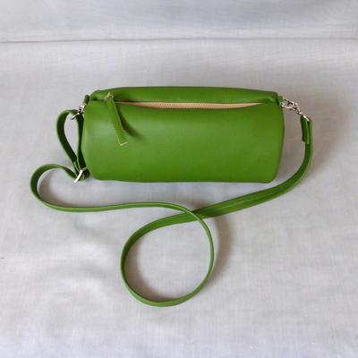 Duffle Bag in Green mit Zebra