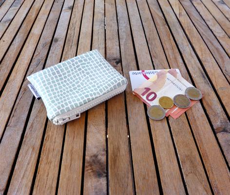 Kleine Geldbörse für Taschenkollektion Python WhiteTea