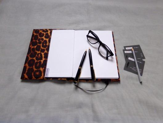 Notizbuch A5 für Taschenkollektion Leopard geöffnet