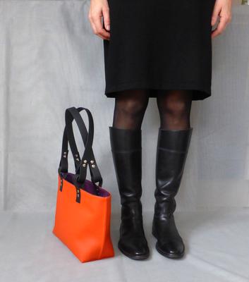 Kleiner Shopper Orange / Violet