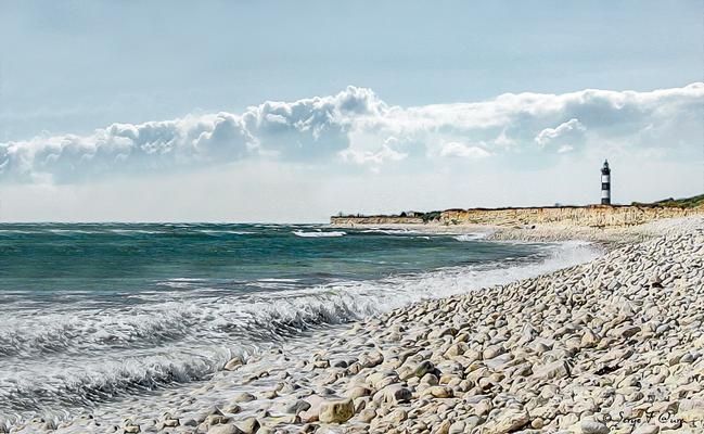 Le phare de l'île d'Oléron - Photo façon tableau peinture Serge Faure