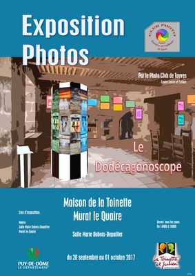 Affiche d'exposition du club photo de Tauves - Salle Marie Dubois Depailler - Murat le Quaire - Massif du Sancy - Auvergne - France