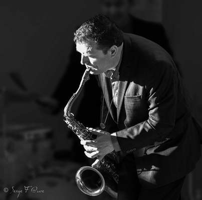 Michel Pastre (saxo ténor) - 26ème Festival de jazz 2015 (Sancy Snow Jazz) Le Mont Dore - Auvergne - France