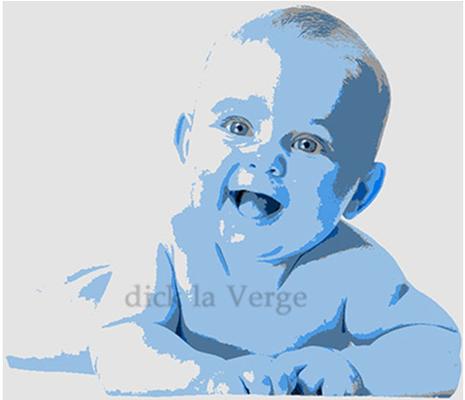 schildering baby in acryl