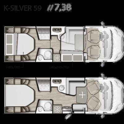 Mobilvetta K-Silver 59 Grundriss