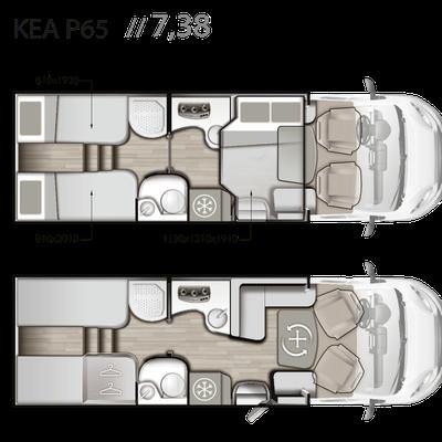 Mobilvetta Kea P 65 Grundriss