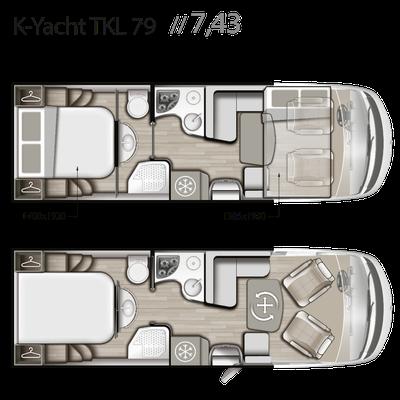 Mobilvetta K-Yacht Tekno Line 79 Grundriss