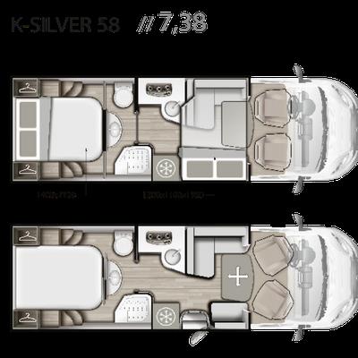 Mobilvetta K-Silver 58 Grundriss