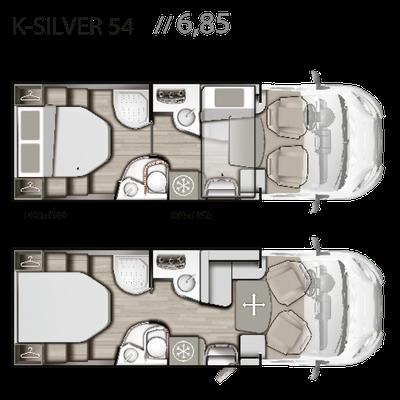 Mobilvetta K-Silver Grundriss