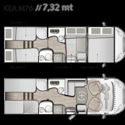Mobilvetta Kea M 76 Grundriss