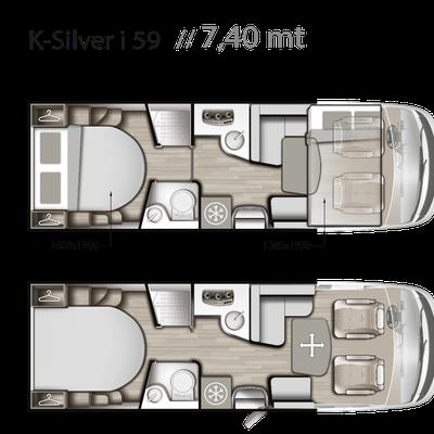 Mobilvetta K-Silver I 59 Grundriss