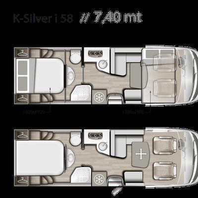 Mobilvetta K-Silver I 58 Grundriss