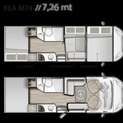 Mobiletta Kea M 74 Grundriss
