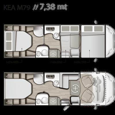 Mobilvetta Kea M 79 Grundriss