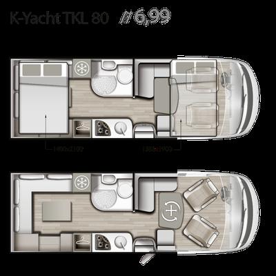 Mobilvetta K-Yacht Tekno Line 80 Grundriss