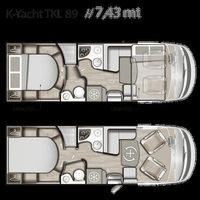 Mobilvetta K-Yacht Tekno Line 89 Grundriss