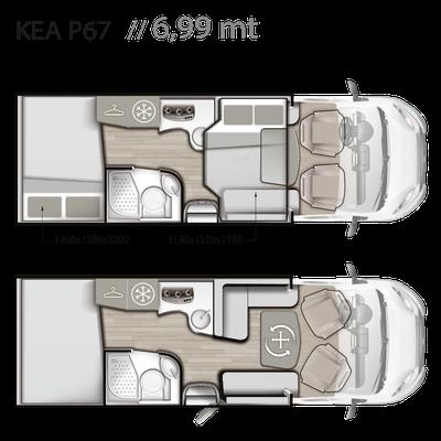 Mobilvetta Kea P 67 Grundriss