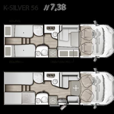 Mobilvetta K-Silver 56 Grundriss