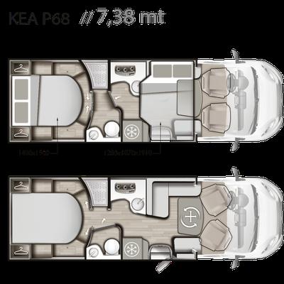 Mobilvetta Kea P 68 Grundriss