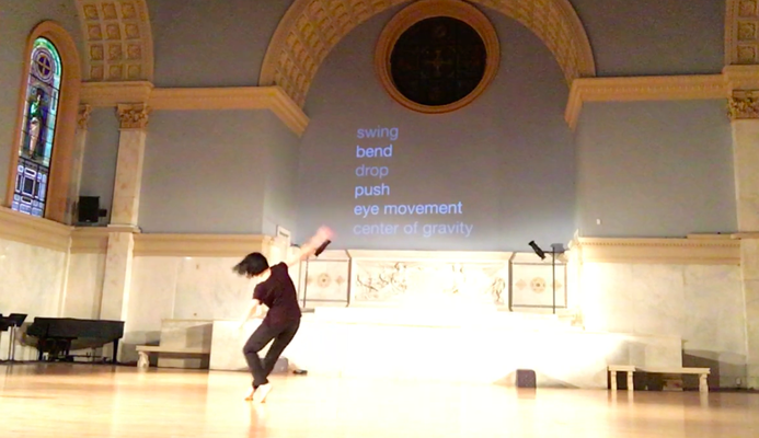 ダンス作品を発表したMovement Research at the Judson Churchにて