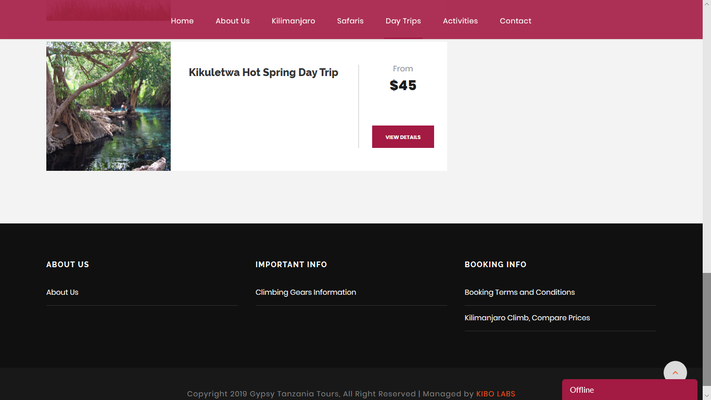 Gypsy Tanzania Tours, geklautes Bild Kikuletwa Hot Springs