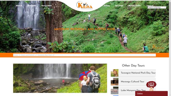 Kilisa Tours & Safaris, geklautes Bild Materuni Waterfall