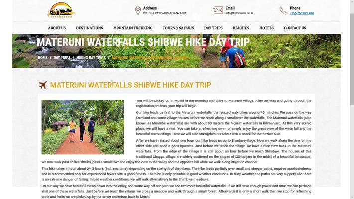Kilitwende Adventures, geklaute Reisebeschreibung