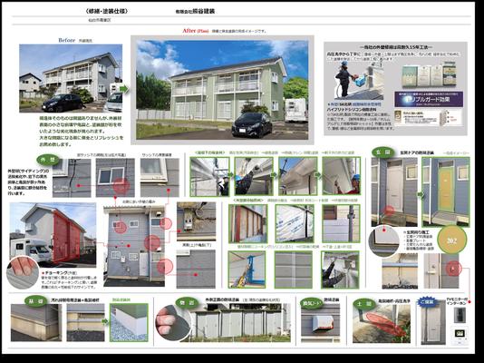 ②インスペクション(瓦屋根を除く調査・診断・修繕仕様・見積)