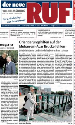 Neuer Ruf vom 08.08.2015 Titelseite
