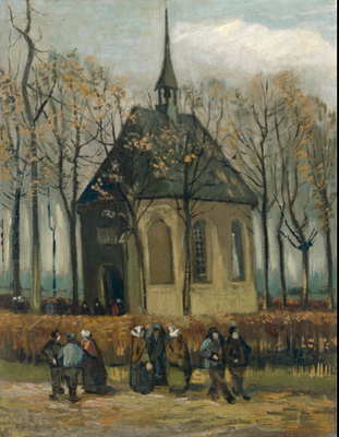 "Vincent van Gogh ""Congregation Leaving the Reformed Church in Nuenen""  1884 - 1885"