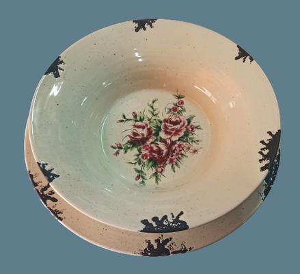 6 platos llanos y 6 hondos cerámica esmaltada