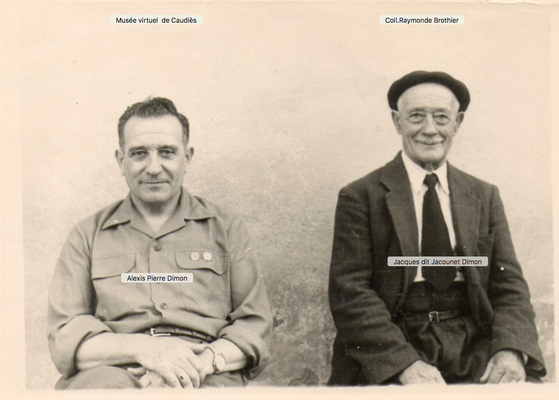 Alexis et Jacques Dimon dans les années 1950
