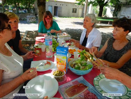 Repas bureau d'Arts en Fenouillèdes (2019)