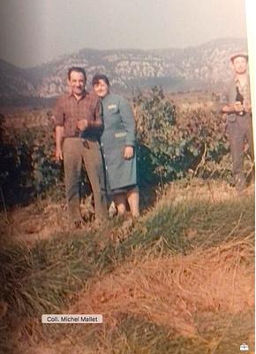 Maurice Malet et Josette à la vigne du Pla