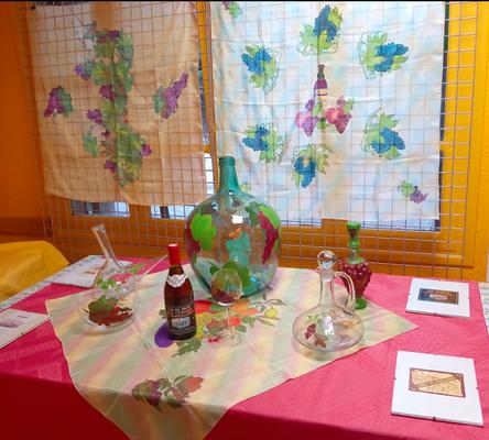 Peintures sur soies et sur verre de Joëlle Milbach