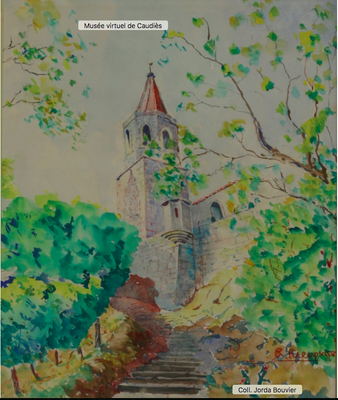 Aquarelle Robert Rieux vers 1980
