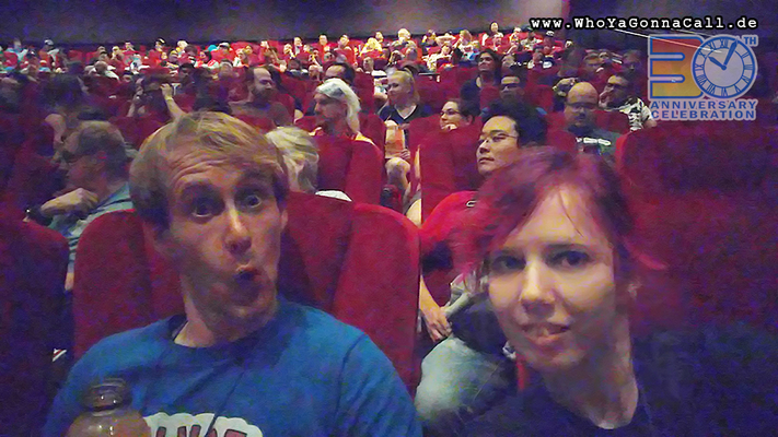 "modellbaubert and shinzo sitting in the cinema - waiting for watching""Back to the Future II"""