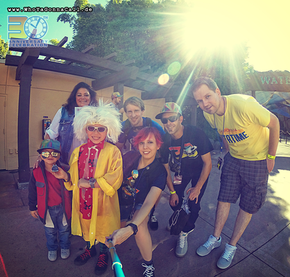Selfie with Back to the Future Cosplayer