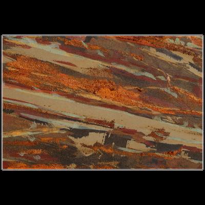 Graugrüner Stoff, verschiedene Erden - 30 x 150 cm, 2012