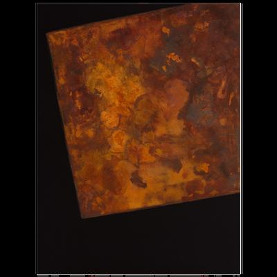 Schwarzer Canvas, Eisenfeilspäne - 120 x 90 cm, 2015